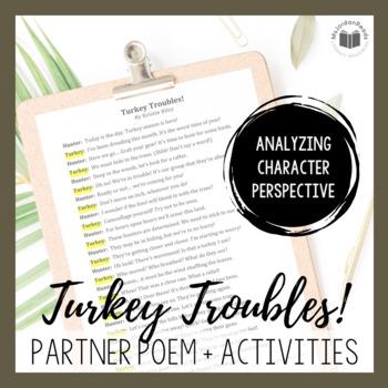 """""""Turkey Troubles!"""" {A Seasonal Partner Poem}"""