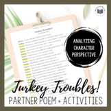 """Turkey Troubles!"" {A Seasonal Partner Poem}"
