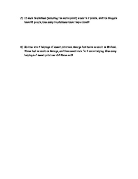 Thanksgiving multiplication word problems and math fact riddle : Turkey Troubles
