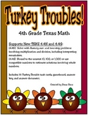 Turkey Troubles (Problem Solving): 4th Grade Math (TEKS 4.4H and 4.4G)
