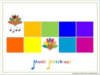 Turkey Tunes:  so-mi  - Melody Matching Class Game or Center