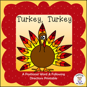 Positional Words - Turkey, Turkey