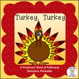 Positional Words - Turkey, Turkey