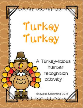 Turkey Turkey: A Turkey-licious number recognition freebie