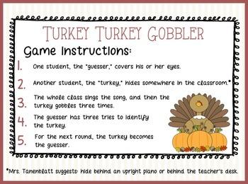 Turkey Turkey Gobbler Thanksgiving Song
