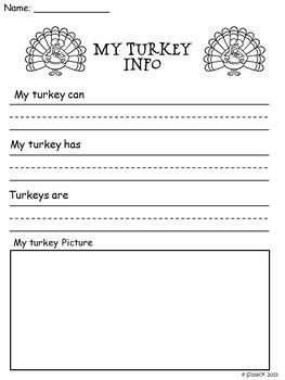 Turkey Turkey Science Math and Literacy