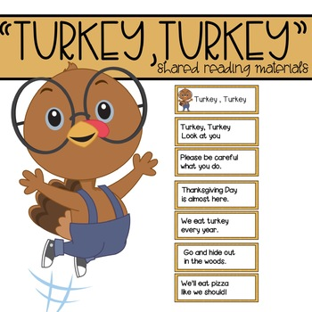 Turkey, Turkey Shared Reading Materials for November