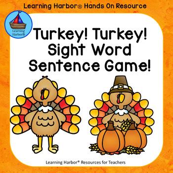 Turkey Turkey Sight Word Sentences