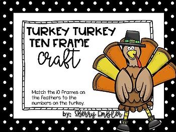 Ten Frame Math Craft - Thanksgiving Turkey
