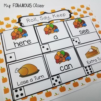 Thanksgiving Turkey Math and Literacy Centers
