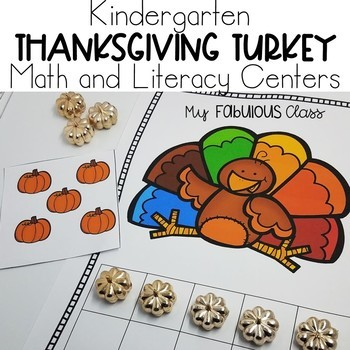 Turkey, Turkey, Turkey -Math and Literacy Centers
