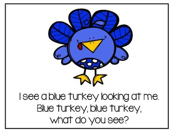 Thanksgiving - Turkey, Turkey, What Do You See?
