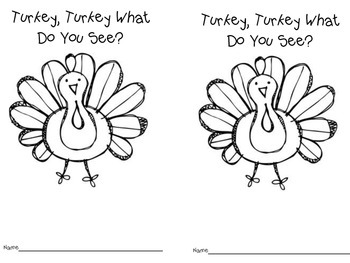 Turkey, Turkey What Do You See? Freebie