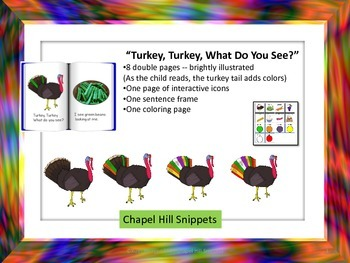 Turkey, Turkey, What do you See?--Special Education/Autism/SLP interactive book
