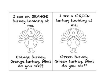 Turkey, Turkey, What do you see? Adapted story and Activity Bundle
