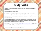 Turkey Twister - Thanksgiving Fluency Game