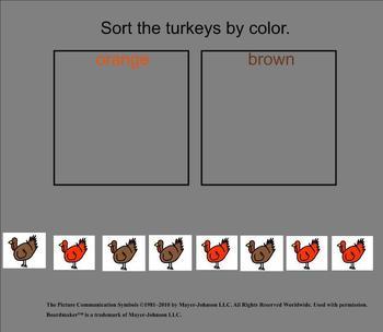 Turkey Unit Interactive Activities {Autism Classroom}
