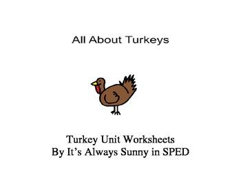 Turkey Unit Worksheets {Autism Class}