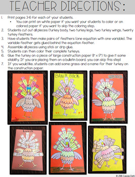 Variable Turkey Craftivity