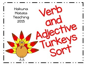 Turkey Verb and Adjective Sort