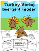 Turkey Verbs Emergent Reader | Parts of Speech Reader