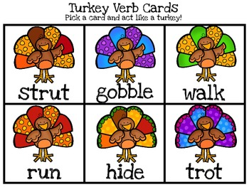 Turkey Verbs FREEBIE