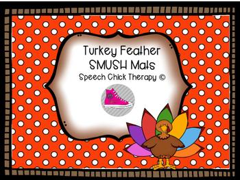 Turkey Vocabulary Mats for Speech and Langauge