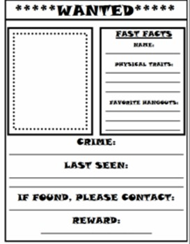 Turkey Wanted Poster (with class book option)