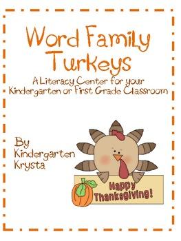 Turkey Word Family Center