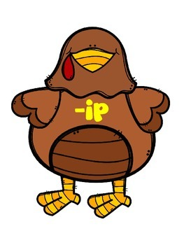 Thanksgiving Activities Turkey Word Family Sorts-short vowels, cvc