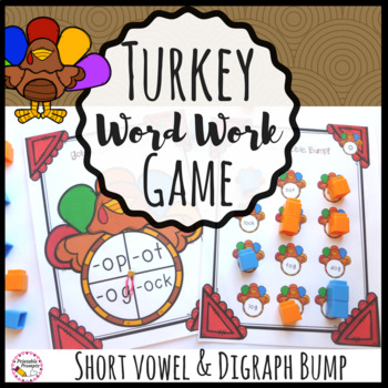 Turkey Word Work Game