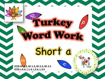 Turkey Word Work - Short A