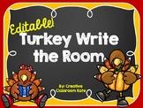 Turkey Write the Room {Editable}