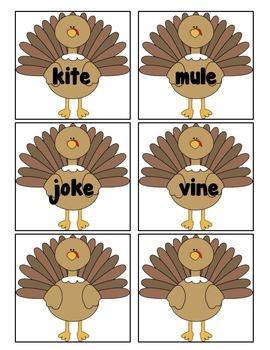 Turkey Write the Room- Magic E (2 Versions)