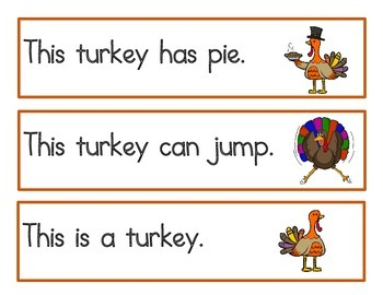 Turkey Write the Room Sentences