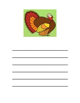 Turkey Writing