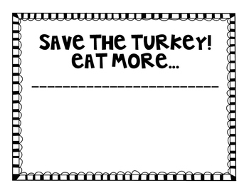 Turkey Writing and Graphing Craftivity