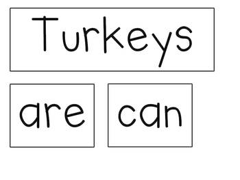 Turkey Writing Fun Freebie!