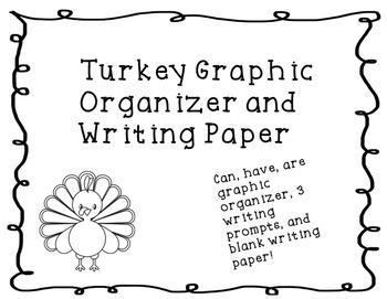 Turkey Writing Graphic Organizers