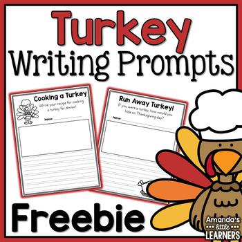 Turkey Writing Prompts - Freebie