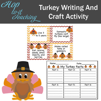 Turkey Writing and Craft Activity