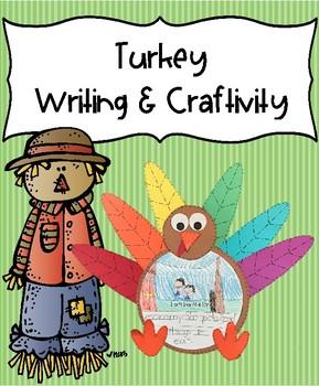 Turkey Writing & Craftivity - November memory book prompt - 2 writing versions