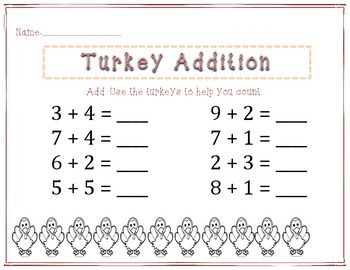 Turkey addition and subtraction