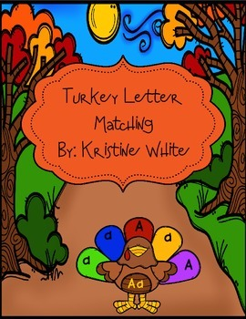 Turkey and Feather Letter Matching