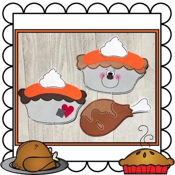Turkey and Pumpkin Pie Craft