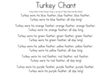 Turkey chant for colors