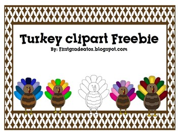 Turkey clip art freebie