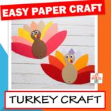 Thanksgiving Crafts For Kindergarten: Turkey Craft
