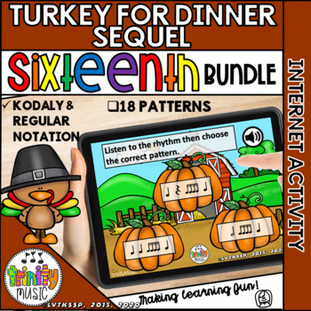 Turkey for Dinner: The Sequel (Sixteenth Note) Interactive Game