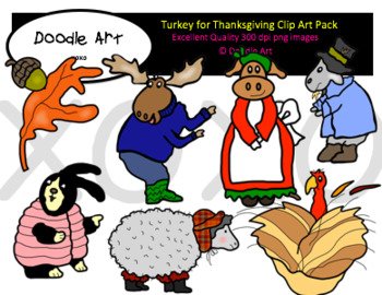 Turkey for Thanksgiving Clipart Pack